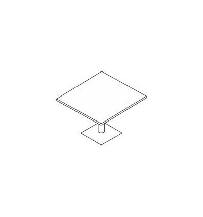 Tavolo riunione quadrato