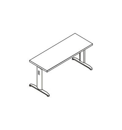 Scrivania rettangolare P. 60 gamba in metallo