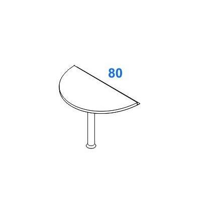 Penisola semicircolare per scrivanie P. 80