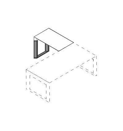Allungo con piano in legno e struttura in metallo