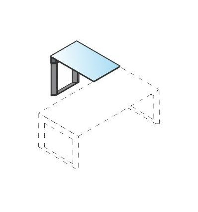Allungo con piano in vetro e struttura in metallo