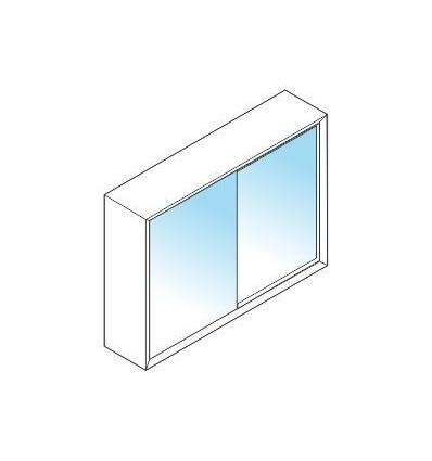 Libreria media LIGHT con ante in vetro scorrevoli